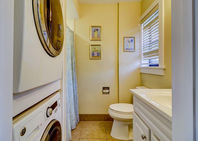 Laundry and Full Hall Bathroom