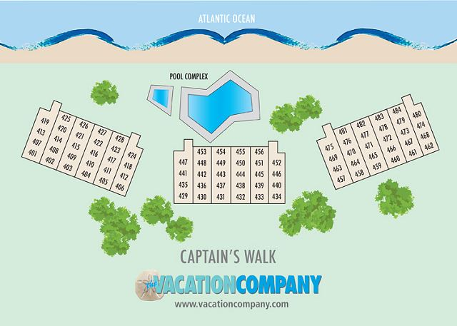 Captains Walk Map