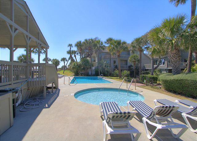 Kiddie Pool and  Large Oceanfront Pool & Bathrooms