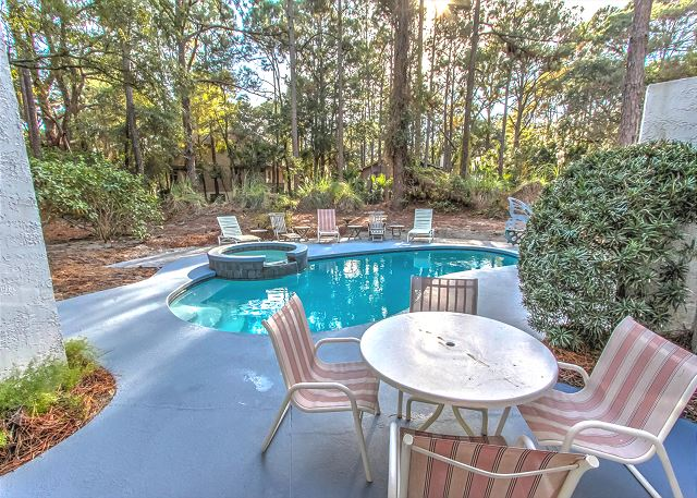 3 Scaup Court - Pool Area - HiltonHeadRentals.com