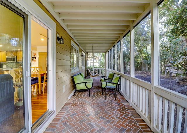 Side Porch Off Living/Dining Area
