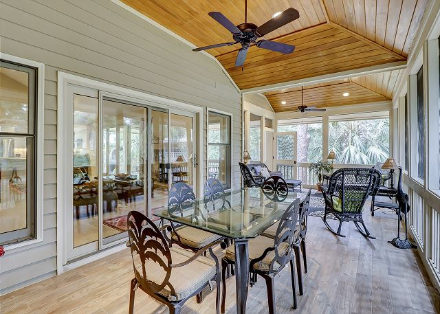 Screened Porch Off Main Living Area