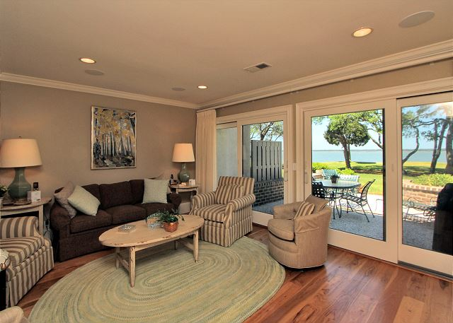 707 Schooner Court - Living Area overlooking Calibogue Sound - HiltonHeadRentals.com
