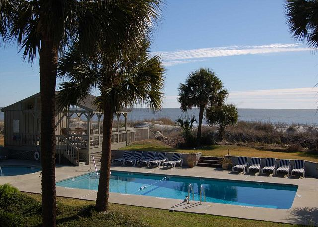 Pool Area w/ Kiddy Pool & Oceanfront Sundeck & Restrooms
