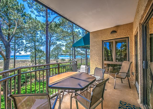1832 Beachside Tennis - Patio - HiltonHeadRentals.com
