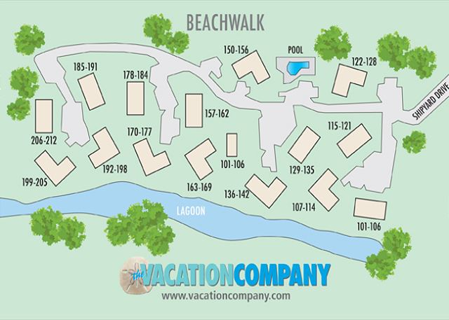 Beachwalk Map