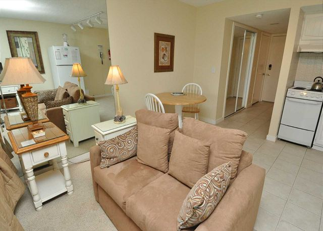 Main Living Area w/ Double Sleeper Sofa