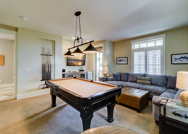 1st Floor Living Area w/ Pool Table