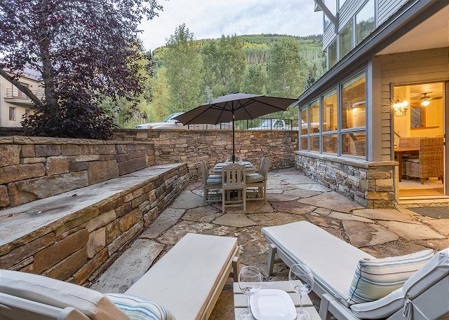 Enjoy your evenings on your private terrace! A rare find in Telluride.
