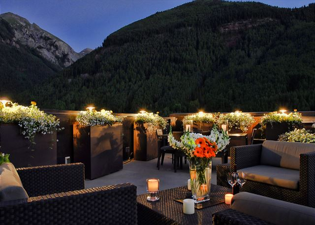 Heart of Telluride rooftop penthouse deck.