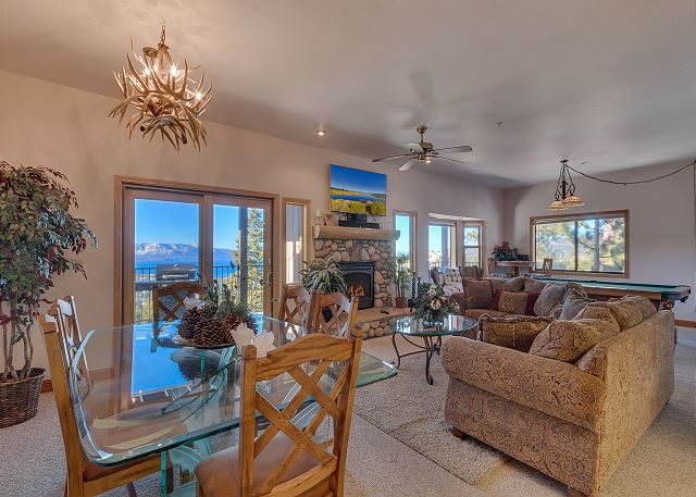 Tahoe Lake View Condo, indoor hot tub (SL294)