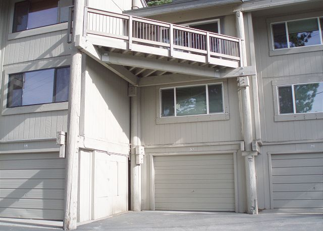 Donner Pines WEST Condominium Unit #32; the Garage for this unit is directly below the Deck.