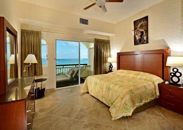 Master Bedroom  with king bed, private bath and amazing view