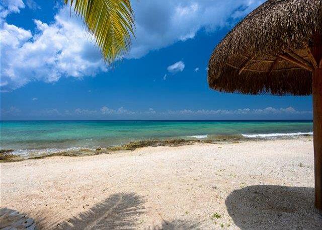 Uvas Beach across a small road. Bring aqua socks
