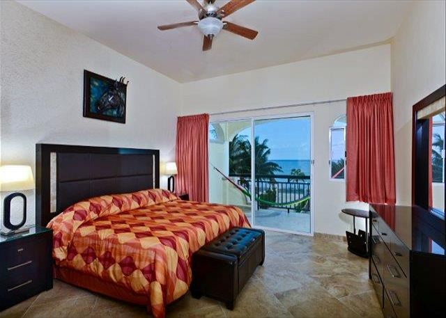 Second Bedroom with King bed, shared bath and oceanview