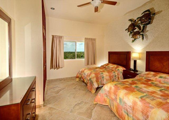 Bdrm #3 2 Double beds shares bath with Bdrm #2 Jungle View