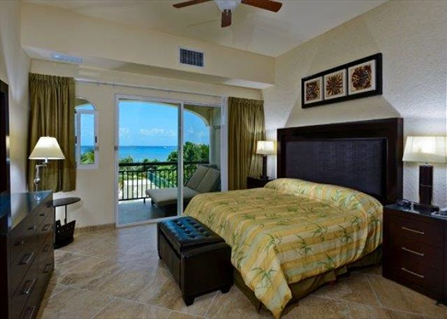 Master Bedroom with King bed, private bath and oceanview