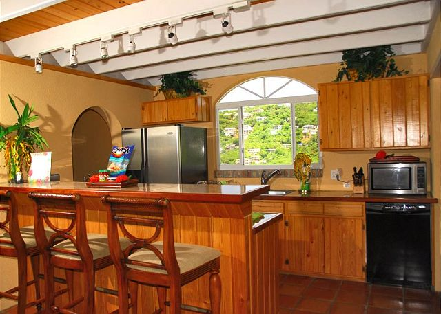 Kitchen Island You Can Sit At st. john, vi virgin islands, u.s. - angelica | viva villas inc.