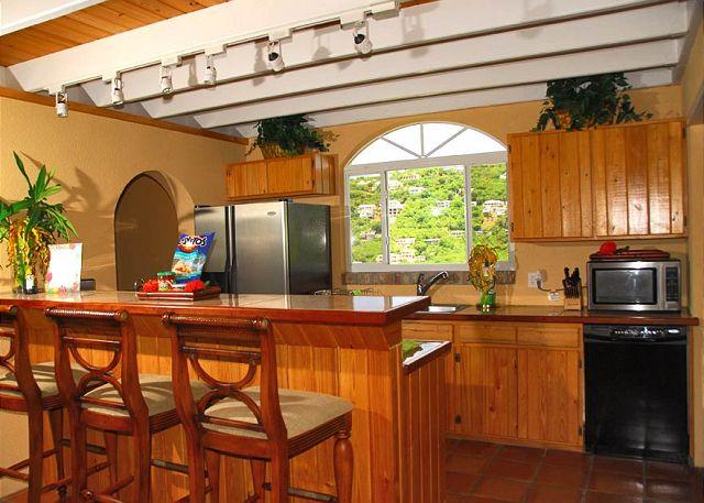 Kitchen Island You Can Sit At st. john, vi virgin islands, u.s. - angelica | viva villas inc.