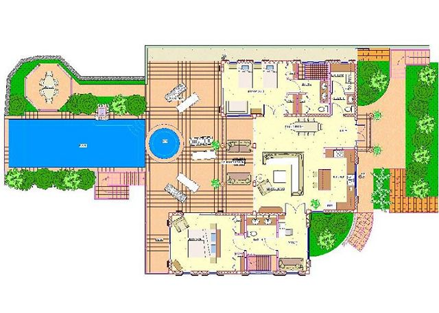 This is the Main Level Floor Plan for Waterfall.