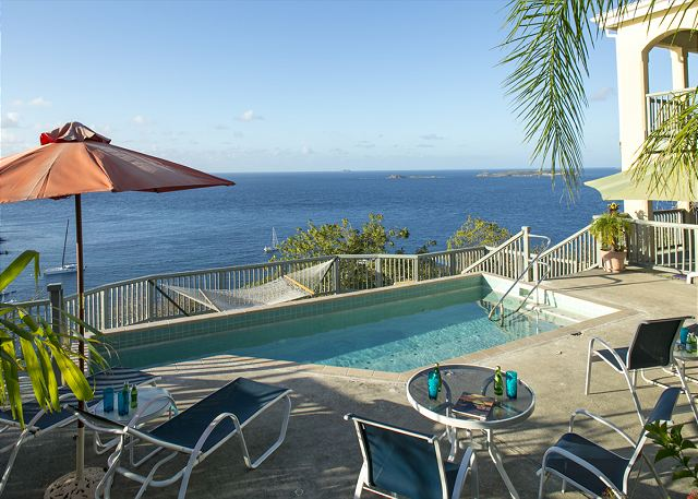 With picturesque vistas that include breathtaking harbor views, horizon to zenith captivating seascapes and sea to sky panoramas,  Eaglesnest will delight you with its Caribbean charm, convenience and all the little touches that will make this enchanting three bedroom, three bath vacation home your dream come true.